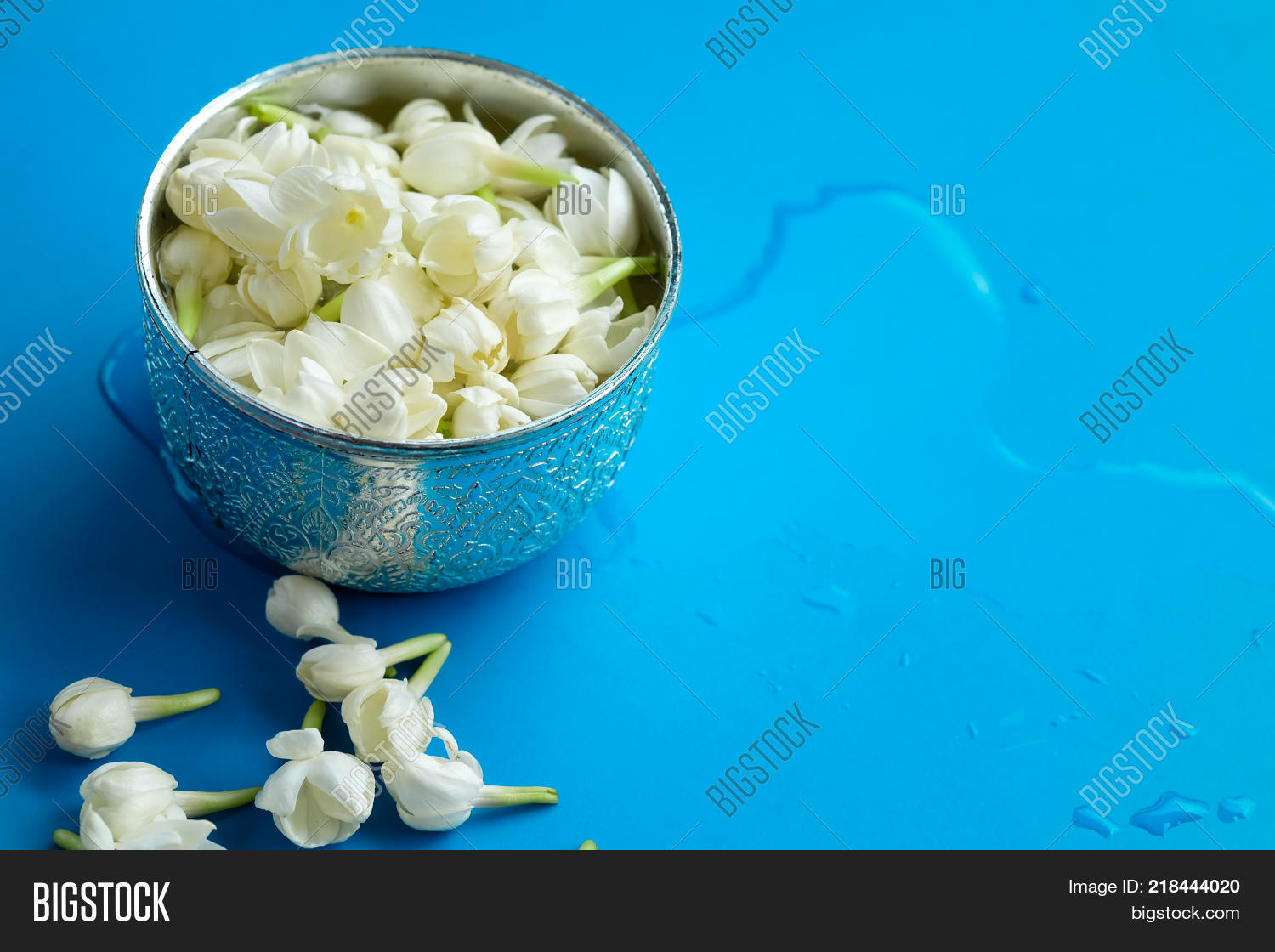 Jasmine Silver Bowl On Image Photo Free Trial Bigstock