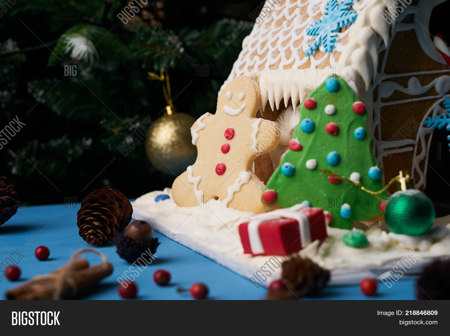 Gingerbread House Image Photo Free Trial Bigstock