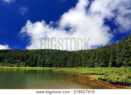 Lagoa do Canario on Sao Miguel Island, Azores Archipelago, Portugal, Europe