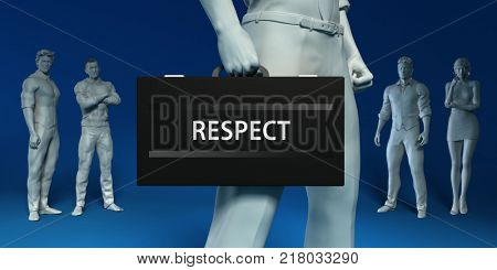 Respect in a Briefcase as a Business Concept 3d Render
