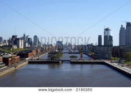 Aerial View Of Puerto Madero