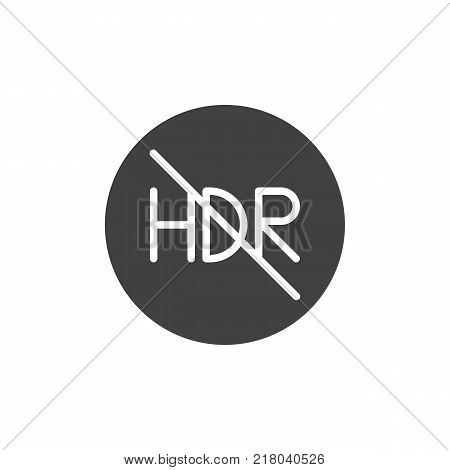 HDR Off mode icon vector, filled flat sign, solid pictogram isolated on white. Symbol, logo illustration.