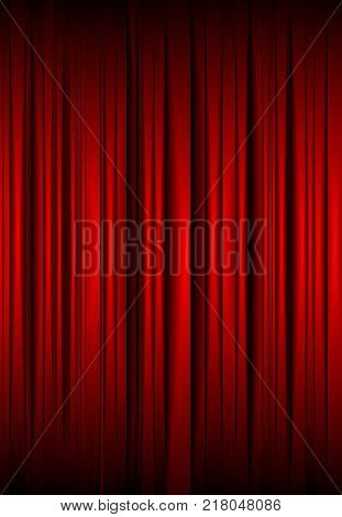 abstract red background similar to a theatrical curtain as an abstract
