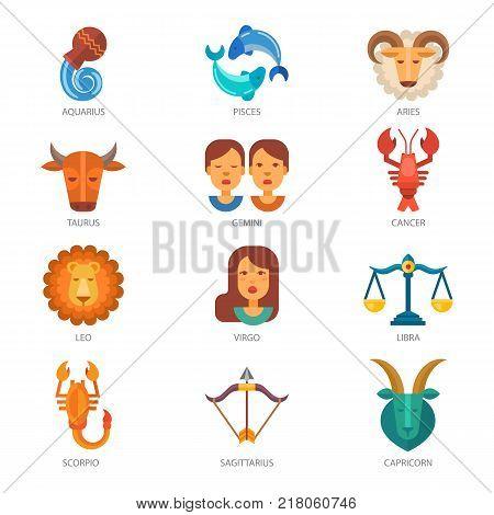 Zodiac Signs Vector Vector & Photo (Free Trial) | Bigstock
