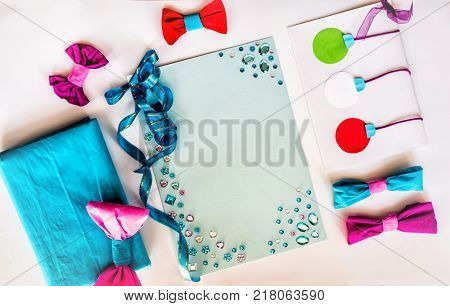 christmas concept. hand made to do list. beautiful hand made christmas letter paper