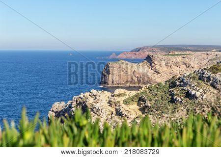Seascape Cabo Sao Vicente, Sagres portugal. Algarve