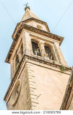 Saint Ivan Church in old town of Budva, Montenegro.