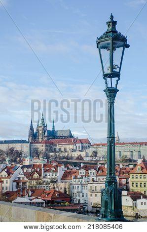 St Vitus Cathedral viewed from Charles Bridge Prague