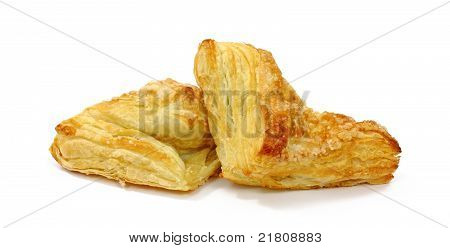 Apple Turnovers On White Background
