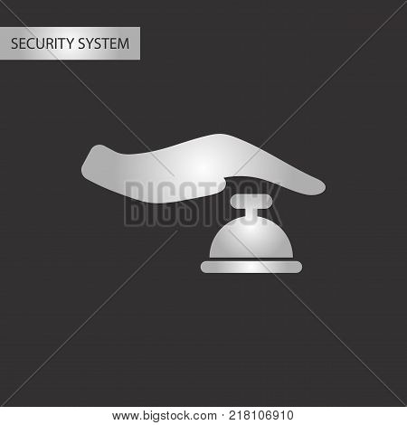 black and white style poker hand bell