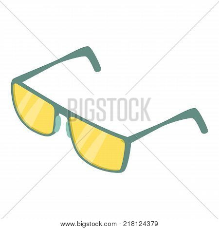 Spectacles icon. Isometric illustration of spectacles vector icon for web