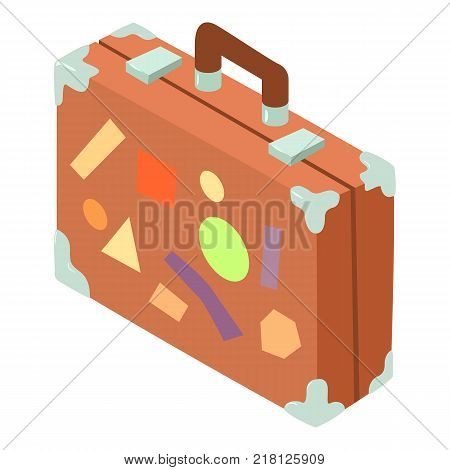 Suitcase icon. Isometric illustration of suitcase vector icon for web
