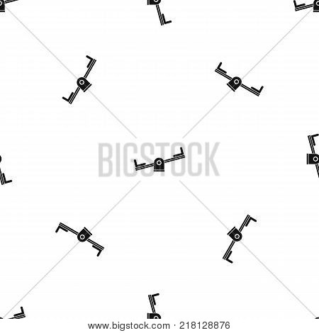 Seesaw pattern repeat seamless in black color for any design. Vector geometric illustration