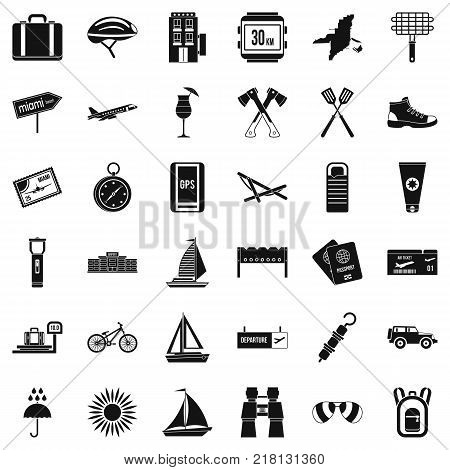 Navigation icons set. Simple style of 36 navigation vector icons for web isolated on white background