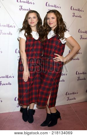 LOS ANGELES - DEC 10:  Bianca DAmbrosio, Chiara DAmbrosio at the Chandler's Friends Toy Drive & Wrapping Party  at Los Angeles Ballet Academy on December 10, 2017 in Los Angeles, CA