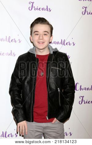 LOS ANGELES - DEC 10:  Benjamin Stockham at the Chandler's Friends Toy Drive & Wrapping Party  at Los Angeles Ballet Academy on December 10, 2017 in Los Angeles, CA