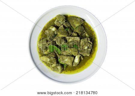 Thai Cuisine - Stir fried pork rib with curry powder - Stir fried pork rib with spicy