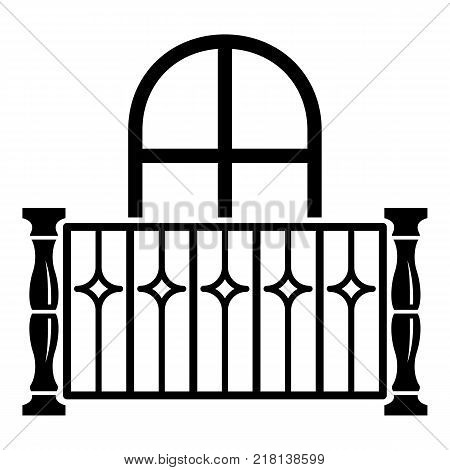 Apartment balcony icon. Simple illustration of apartment balcony vector icon for web