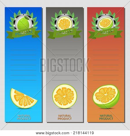 Abstract vector icon illustration logo for whole ripe citrus fruit green pomelo slice half. Pomelo pattern consisting of card label natural design citruses food.Eat sweet fresh fruits Citrus pomelos
