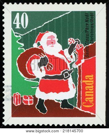 CANADA - CIRCA 2004: A stamp printed in Canada shows image of Santa Claus, circa 2004