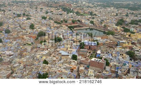 Panoramic views of a city in India