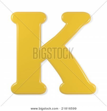 yellow font - letter k