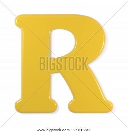 yellow font - letter r