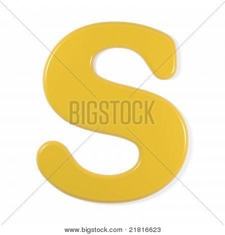 yellow font - letter s