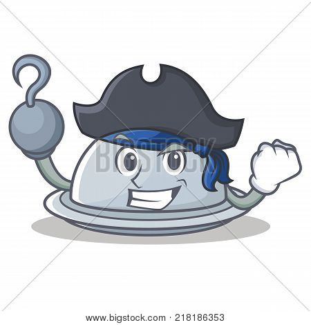 Pirate tray character cartoon style vector illustration