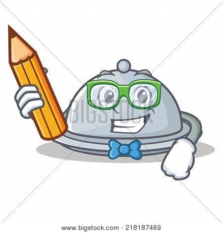 Student tray character cartoon style vector illustration