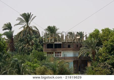 A house on the bank of Nile river