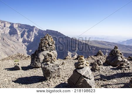 Scenic view over Jebel Shams - Sultanate of Oman