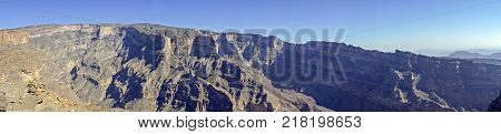Panoramic view over Jebel Shams - Sultanate of Oman