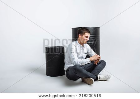 The Guy Sitting On The Barrel. The Guy In The Studio. The Guy In The Black Jacket. Handsome Guy