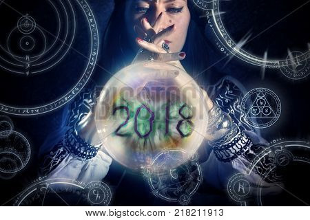 gypsy woman fortune teller forecast for 2018 new year