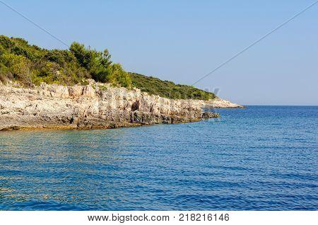 The beautiful Adriatic Sea at Milna - Hvar, Croatia