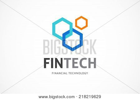 Modern logo innovative concept for fintech and digital finance industry