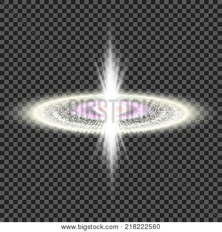 eps10. Explosion of a star in space. Bright glow. Flighting debris. Space background
