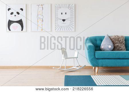 Kid's Drawings In Living Room