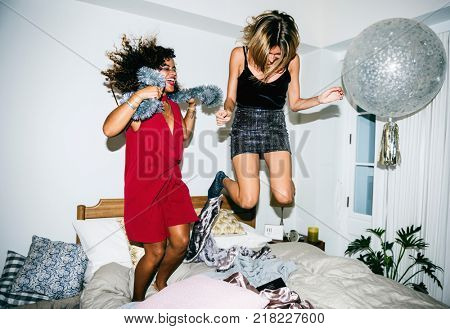 People having fun in a party