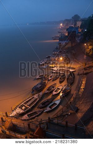 Landscape of Benares or Varanasi Uttar Pradesh