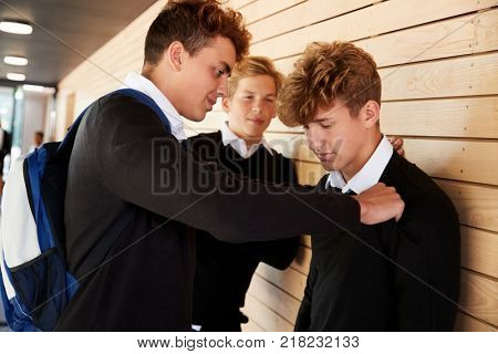 Teenage Boy Being Bullied At School