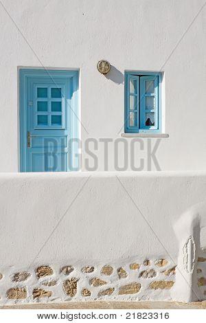 Greek Island Door And Window