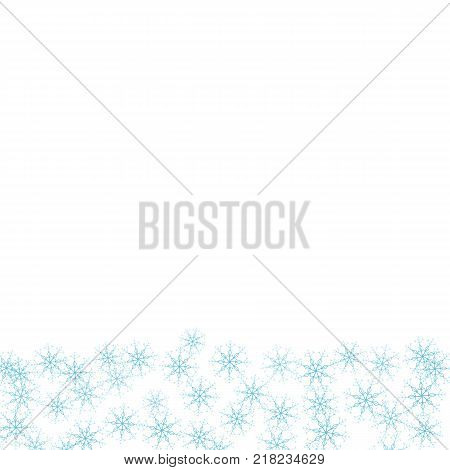 Festive Frame With Snowflakes On A White Background. For Posters, Postcards, Greeting For Christmas,