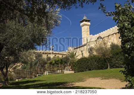 The Cave of the Patriarchs in Hebron Israel