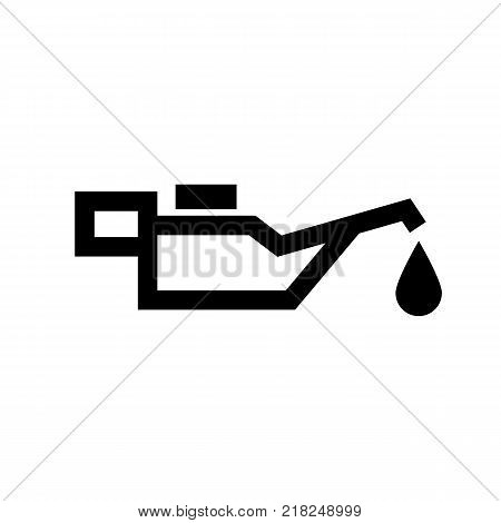 The oiler icon. Lubricator, oilcan symbol. Flat design. Stock - Vector illustration poster
