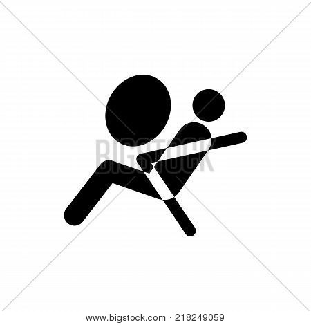 The airbag icon. Security, safety symbol. Flat design. Stock - Vector illustration