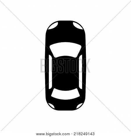 The car view from top icon. symbol. Flat design. Stock - Vector illustration