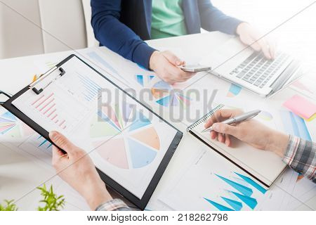 Stock Market Chart And Finger Pointing
