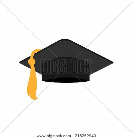 Studient graduation hat. Graduation cap. Educational hat isolated on background. Vector stock.